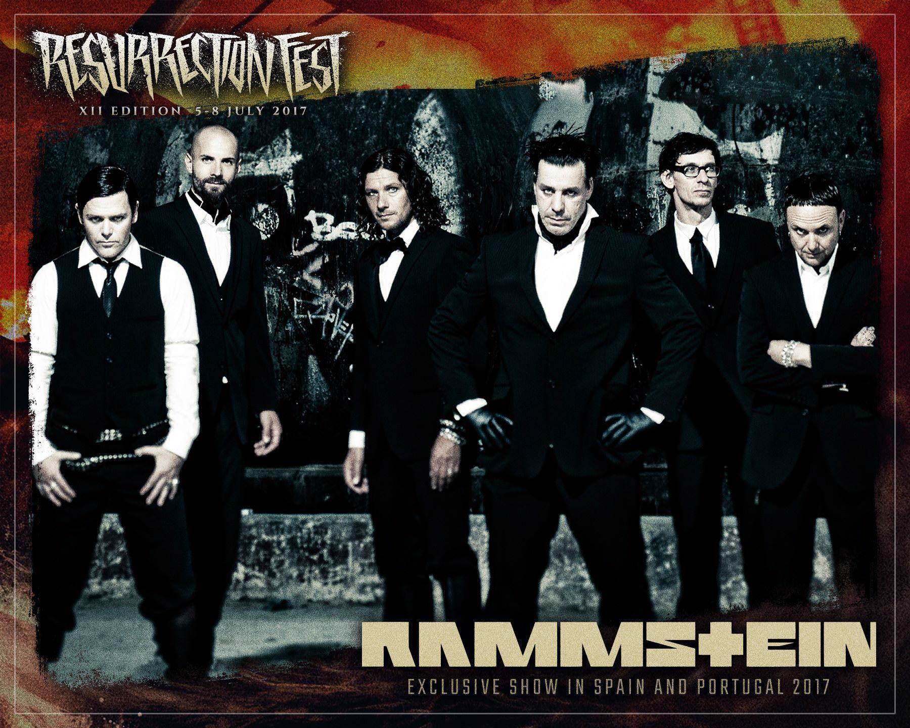 Rammstein vão atuar em Espanha no Resurrection Fest 2017