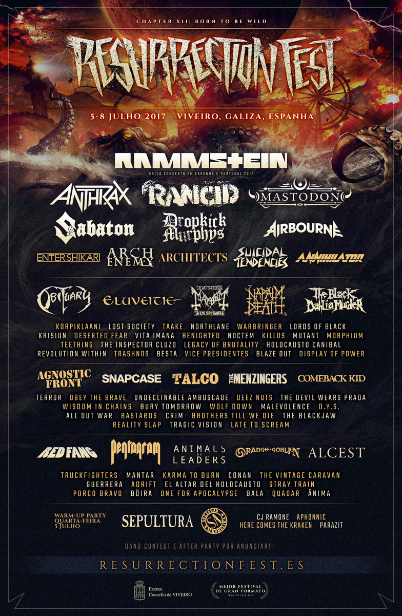 Cartaz Resurrection Fest 2017